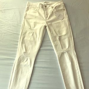 Just Black White Distressed Jeans
